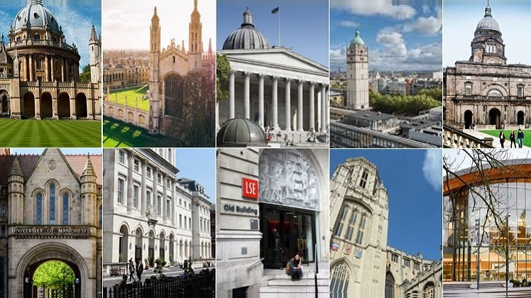 Top 10 Universities in The UK for 2020-2021